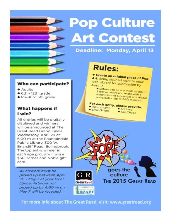 Pop Art Contest Flyer