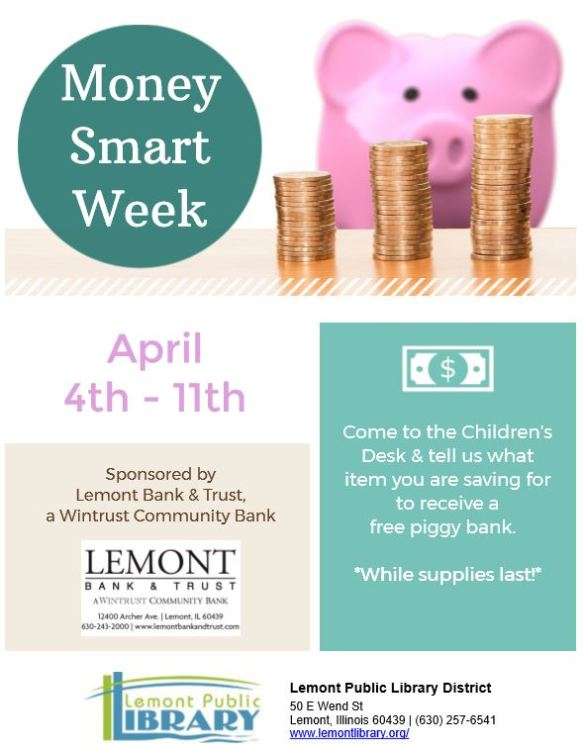 Money Smart Week Giveway 4_4_20 thru 4_11_20