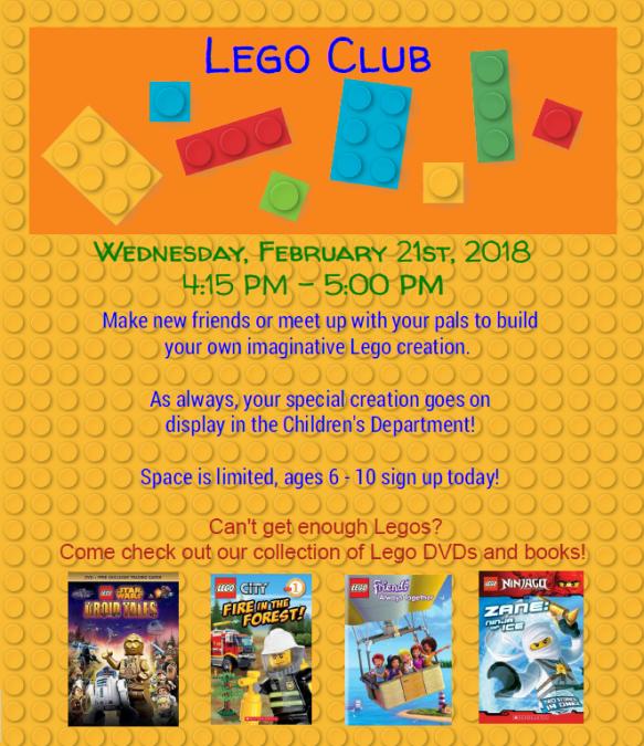 Lego Club Feb 2_21_18