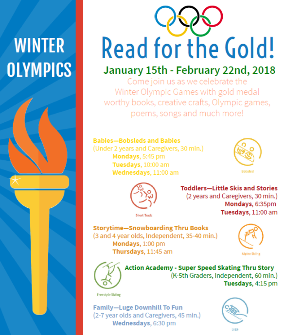 Read for the gold february 2018 sotry time flyer