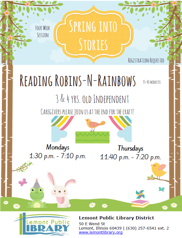 Reading RobinsNRainbows April 2018