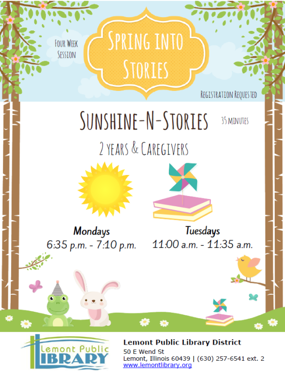 SunshineNStories April 2018