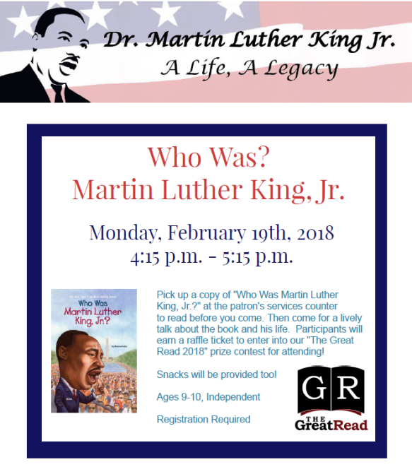Who was MLK 2_19_18