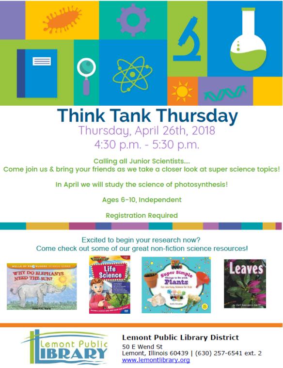 April Thursday Think Tank