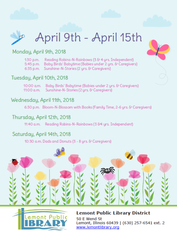 Week 2 April Weekly Events Flyer