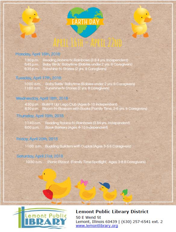 Week 3 April Weekly Events Flyer