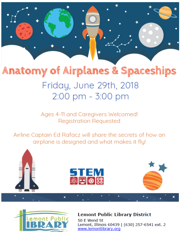 Anatomy of Airplanes and Spaceships June Summer 2018