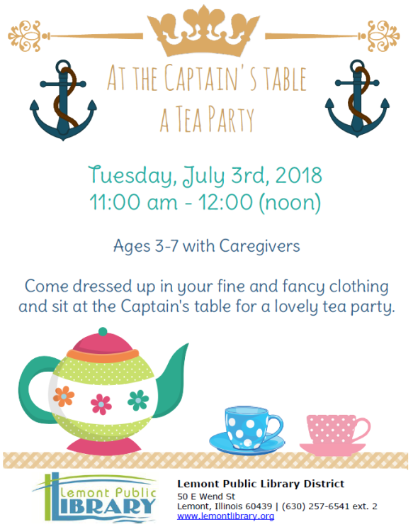 At the Captain's Table JULY Summer 2018