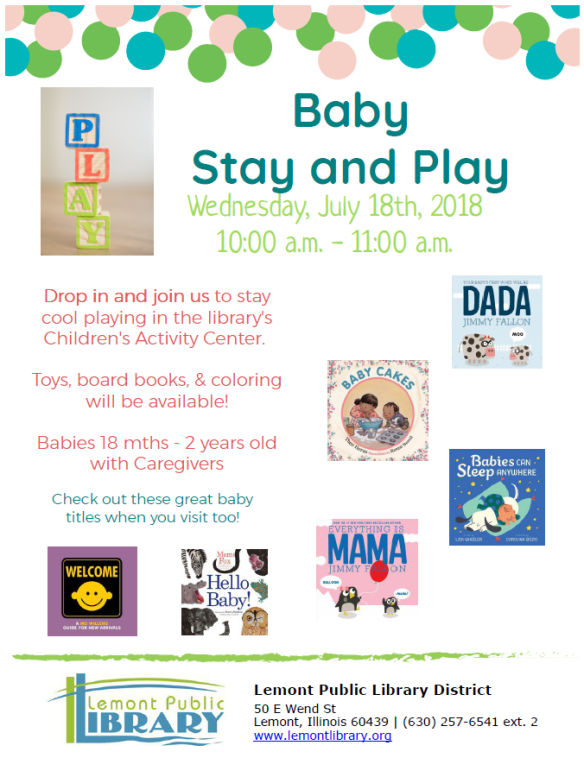 July Summer 2018 Baby Stay and Play