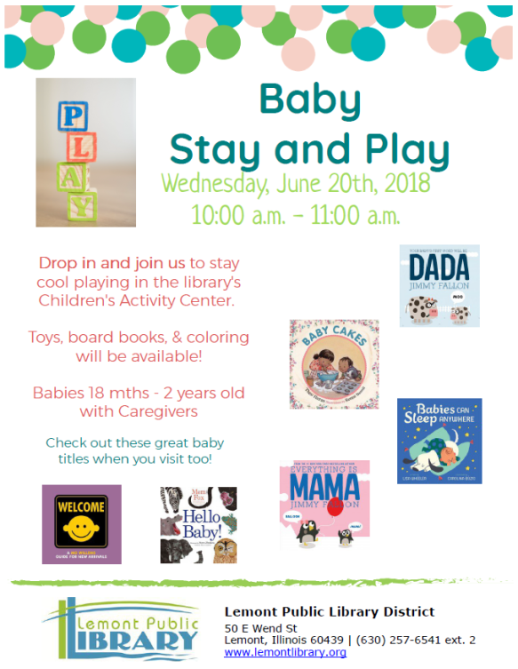 June Summer 2018 Baby Stay and Play
