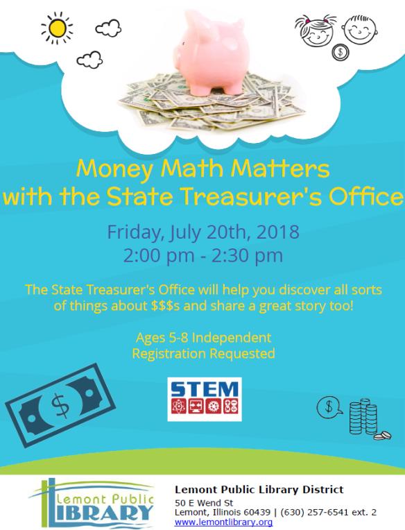Money Math Matters July Summer 2018