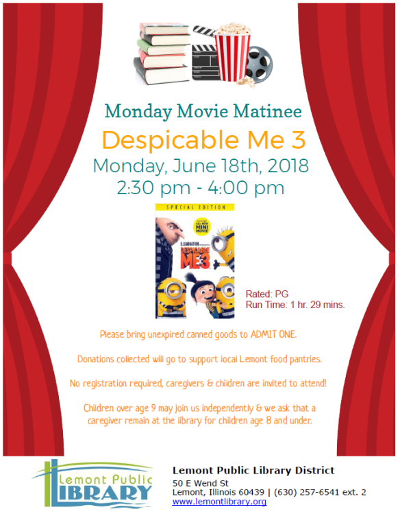 Movie Matinee Despicable Me III Summer 2018