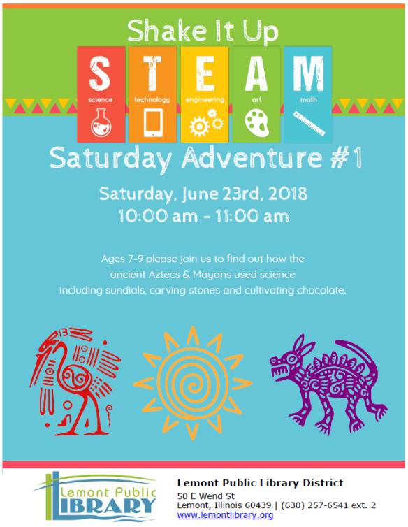 Shake it up STEAM Saturday June 2018