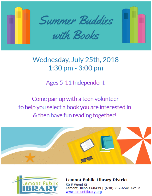 Summer Buddies with Books JULY Summer 2018