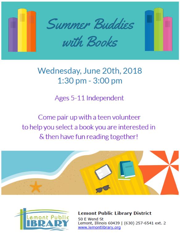 Summer Buddies with Books JUNE Summer 2018