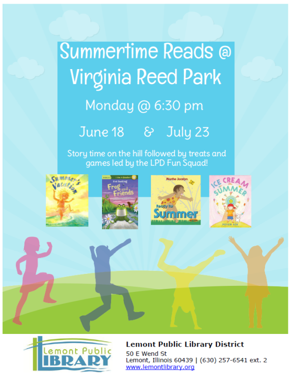 Summer Time Reads at Virginia Reed Park Summer 2018
