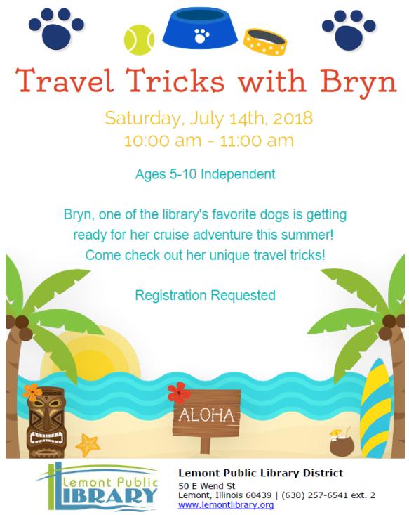 Travel Tricks with Bryn July Summer 2018