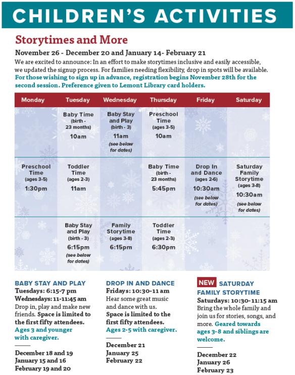Children's Activities Flyer Winter Nov and Dec 2018.PNG