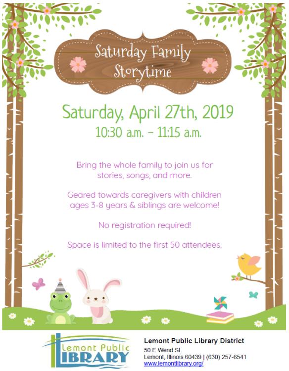 4_27_19 Saturday Family Storytime