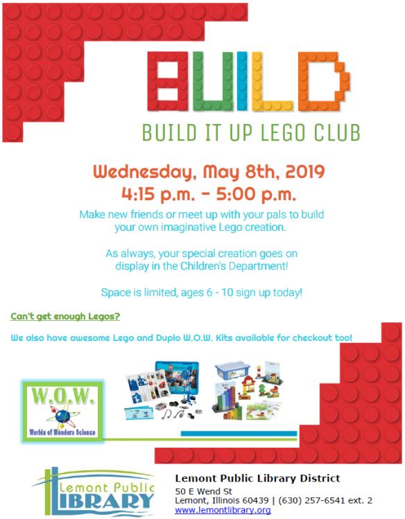 5_8_19 Build it up Lego Club