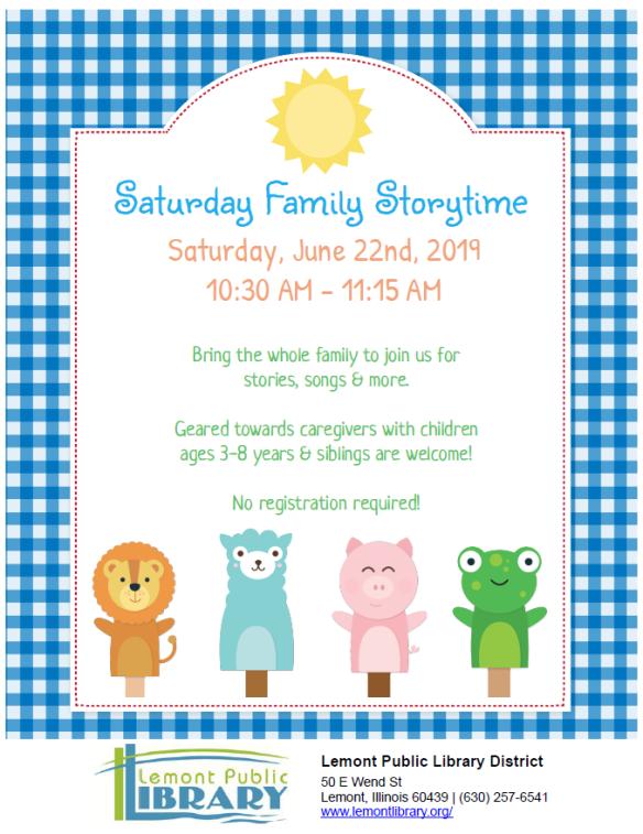 6_22_19 Saturday Family Storytime