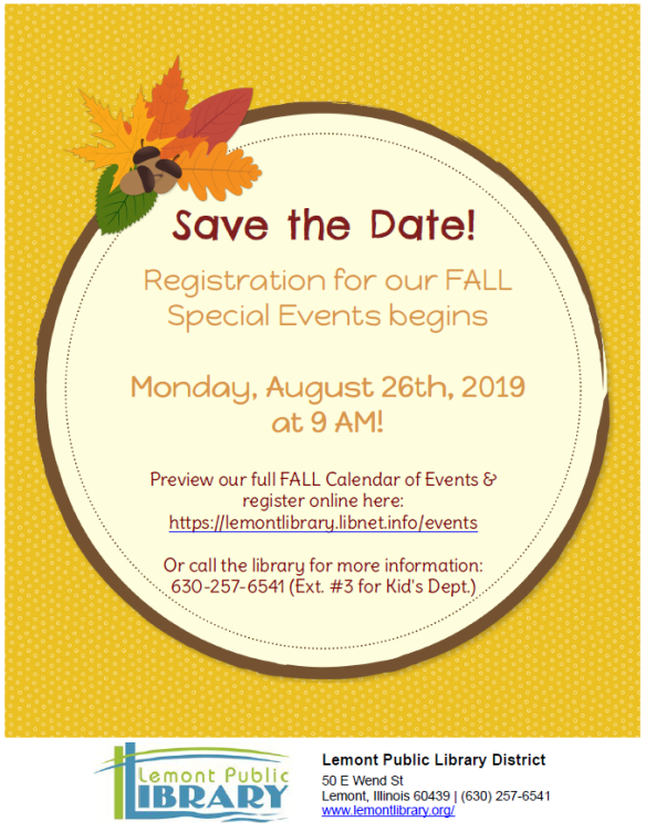 8_26_19 Save the Date for Fall Registration