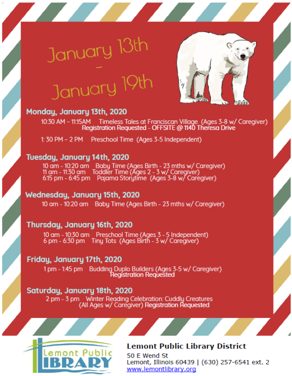 1_13_20 thru 1_19_20 polar bear week