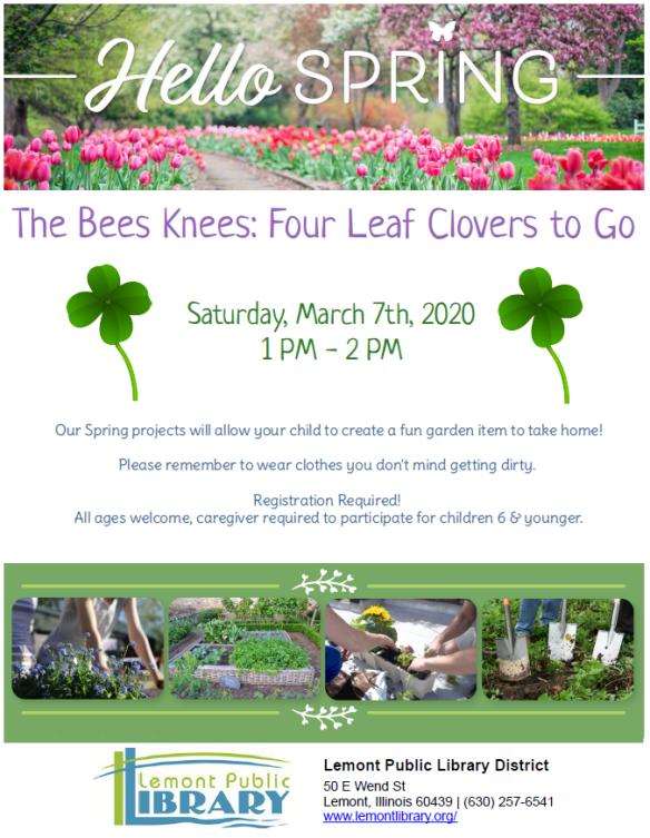 3_7_20 bees knees 4 leaf clover